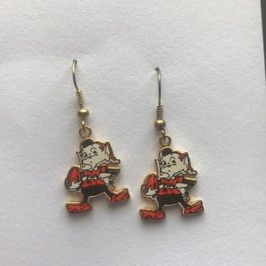 ❤️Cleveland Brown Gold Dangle Earrings